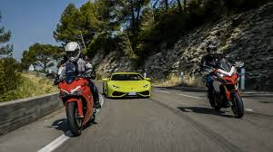 lamborghini motorcycle paul ricard on the road