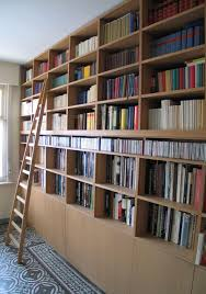 Cream Wood Bookcase Bookcase With A Ladder Frits Kuitenbrouwer Tailor Made Furniture