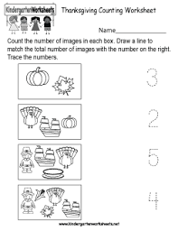 free kindergarten thanksgiving worksheets worksheets for a
