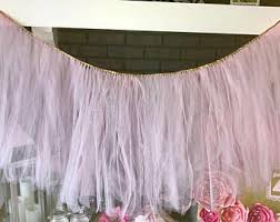 Pink Table Skirt by Tutu Table Skirt Etsy