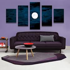 canvas decorations for home best home decor canvas wall art decor painting moon at night wall