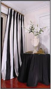 Black And White Stripe Curtains Sumptuoussilk Black And White Striped Silk Draperies
