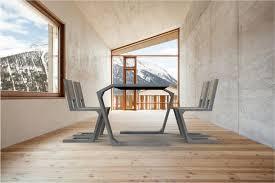 sedia gravity sedia moderna cantilever in legno in calcestruzzo gravity