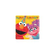 sesame street 1st birthday cake plates 18 pack partyland new