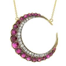 pink ruby necklace images Victorian ruby diamond silver gold crescent moon necklace at 1stdibs jpg