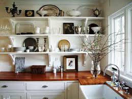 small galley kitchen design open shelving