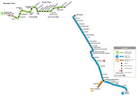 san jose light rail map san jose light rail transit overview