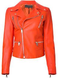 biker safety jackets arrow womem orange biker leather jacket u2013 798798ou