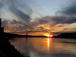 panoramio photo of sunset over the cape cod canal