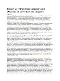 Audit Engagement Letter Sample Philippines January 2013 Philippine Supreme Court Decisions On Labor Law And