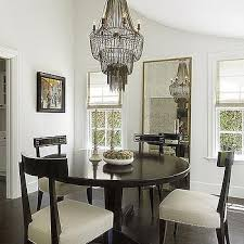 Black Chandelier Dining Room Black Chandelier With Black Grosgrain Trimmed Shades Design Ideas