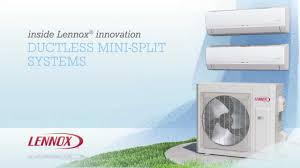 ductless mini split lennox ductless mini split systems youtube
