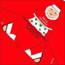 origami n u0027 stuff 4 kids origami mrs claus gift tag or christmas card