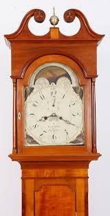 isaac reed philadelphia tall case grandfather clock 1820 cherry