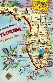 Usa Travel Map by Florida Post Card Map Historic U0026 Vintage Florida Pinterest