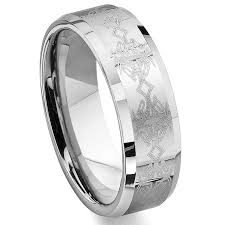 titanium celtic wedding bands asfur tungsten carbide laser engraved celtic wedding band ring