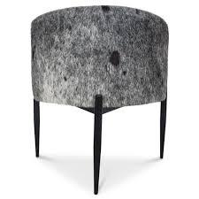 modern art deco dining chair w brass modshop modshop art deco dining chair in cowhide
