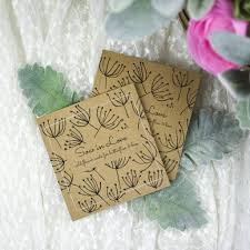 wedding wildflower seed packet favors with u0027seed head u0027 by ovo