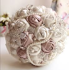 artificial wedding bouquets 2017 ivory white bridal wedding bouquet de mariage pearls