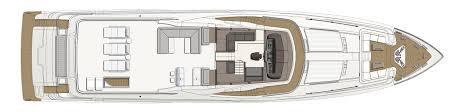 luxury yacht floor plans layout of custom line 108 u0027 custom line yacht