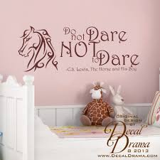 change quote cs lewis decal drama do not dare not to dare aslan narnia c s lewis