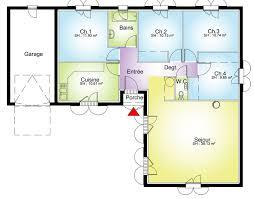 plan maison plain pied 3 chambres 100m2 plan maison 100m2 plein pied 3 chambres 11 plan maison toit