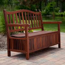 Wooden Bench Seat Designs by Wood Storage Box Inside Outdoor Bench Painted With Brown Color Ideas