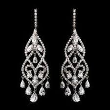silver dangle earrings for prom silver clear rhinestone chandelier earrings for your quinceanera