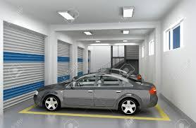 underground parking garage and car 3d render stock photo picture underground parking garage and car 3d render stock photo 10462725