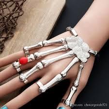skull hand bracelet images Punk rock skeleton skull hand bone knuckle finger bracelet jpg