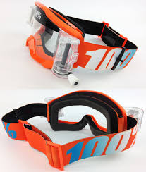 100 percent motocross goggles 100 percent strata mx motocross goggles orange with gsvs roll off