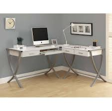 Corner White Desks Furniture Cool White Computer Corner Desk With Storage Plan 3