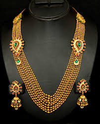 indian gold jewellery necklace designs with price