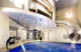 awesome master bedrooms hidden interior slides underground house with water slide