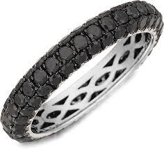 black diamond band henri daussi domed 3 row black diamond pave band r3 4