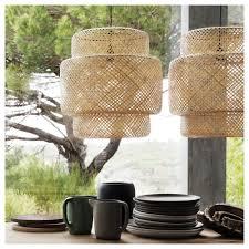 kitchen ceiling lights ikea sinnerlig pendant lamp bamboo ikea