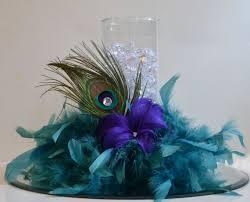 peacock centerpieces 10 peacock feather wedding reception centerpieces peacock