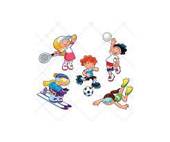 sport vector color vectors soccer tennis volleyball player