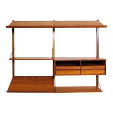 Desk Bookcase Wall Unit Vintage U0026 Used Mid Century Modern Shelving Chairish
