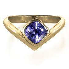Unique Tanzanite Ring Gold Arrow Ring Metalicious Fine Handmade