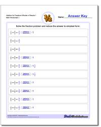 adding fractions answer key fraction addition