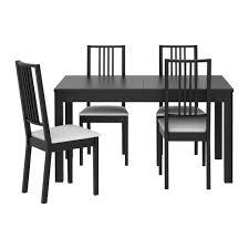 ikea kitchen table chairs set bjursta bernhard table and 4 chairs brown black kavat dark brown