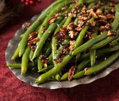 green beans with caramelized pecans recipe epicurious