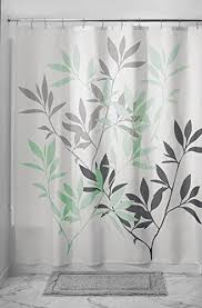 Green And Gray Shower Curtain Mdesign Leaves Fabric Shower Curtain 72 X 72 Gray