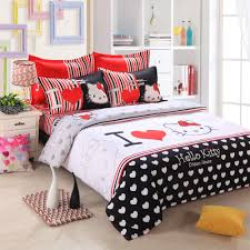 Dream Furniture Hello Kitty by Aliexpress Com Buy Hello Kitty Bedding Set Kids Cartoon Red