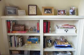 Cream Bookshelves by Paint Hospitably Yours