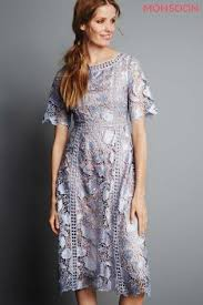 monsoon dress blue monsoon lace sleeved dress guests blessing
