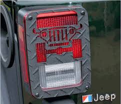 Jeep Jk Tail Light Covers Jt01b Jeep Tweaks Black Tail Light Guards Jeep Wrangler Jk 2007