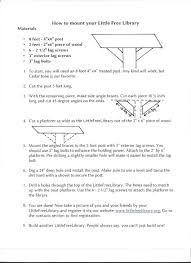 How To Obtain Building Plans For My House Plans And Tips For Library Builders Little Free Library