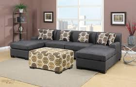 sofa black microfiber sectional fabric sectional black sectional